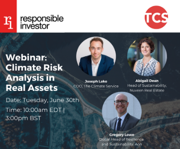 Webinar: Climate Risk Analysis in Real Assets